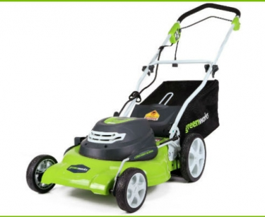 Electric-Powered Lawn Mower by Greenworks