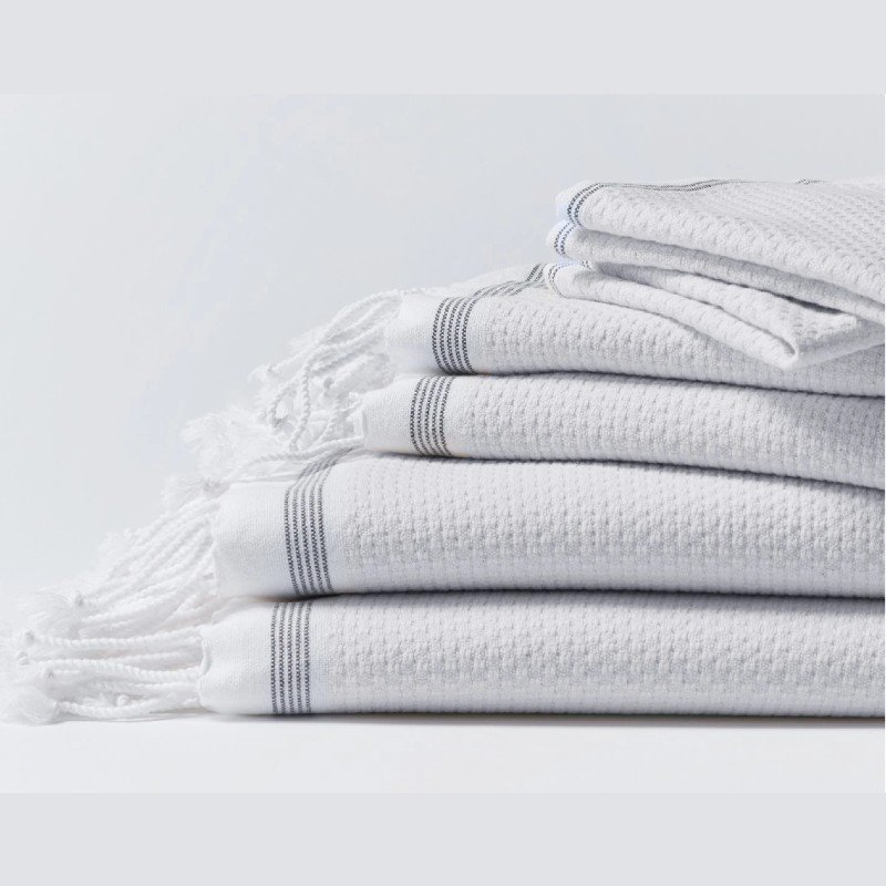 Coyuchi Mediterreanan Weave Organic Cotton Towels