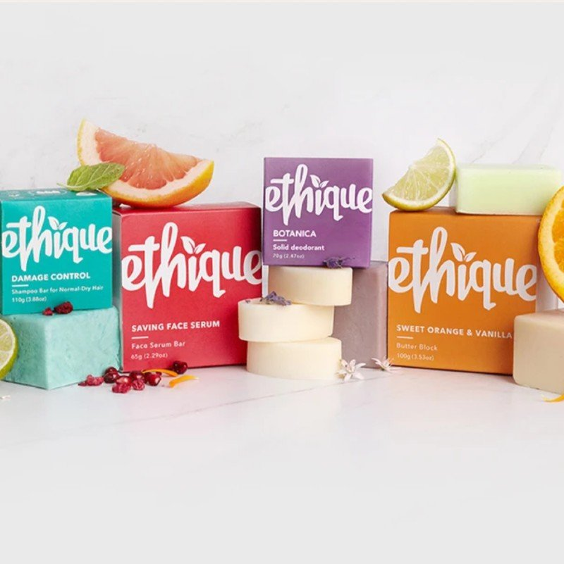 Ethique Plastic-free Shampoo and Soap