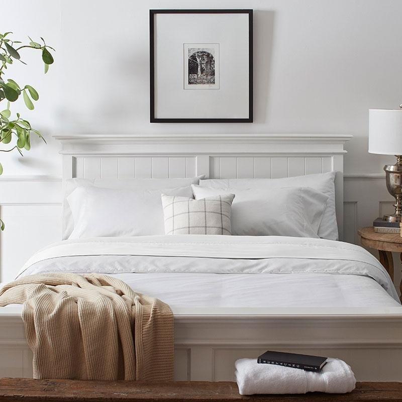 Grund Organic Cotton Sheets Charleston White