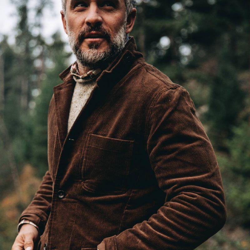 Men Sustainable Style Gibson Organic Cotton Jacket