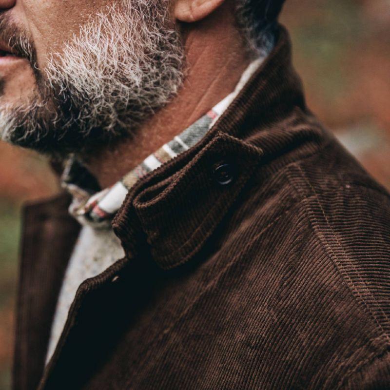 Men Sustainable Style Organic Cotton Jacket Detail