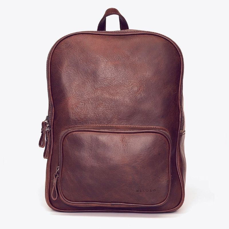 Nisolo Cordoba Backpack Sustainable Vegetable Tanned Leather