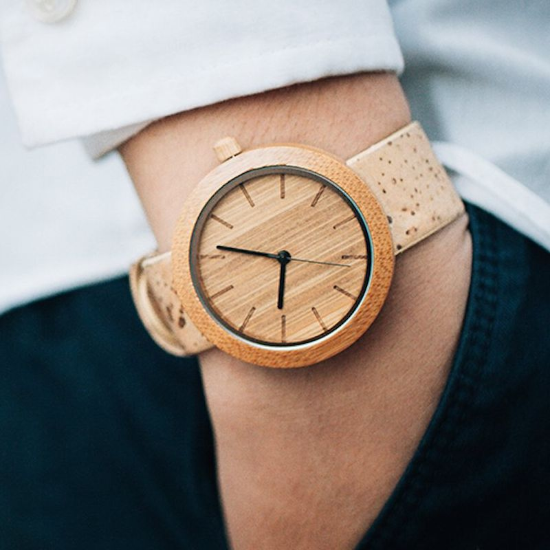 Panda Sustainable Bamboo Watch Eco-Friendly Cork Strap