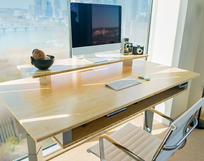 Terra 2S Eco-Friendly Xdesk sustainalby made bamboo recycled aluminum