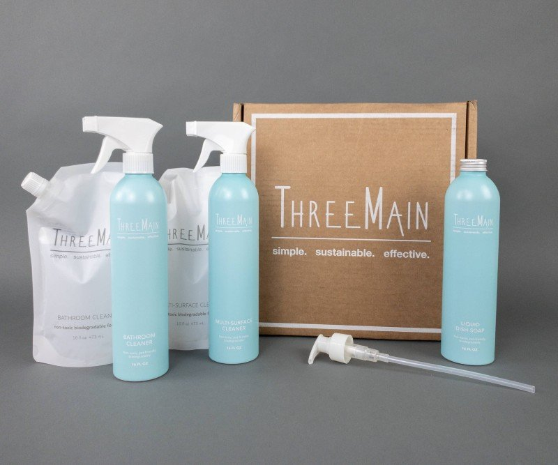 ThreeMain Sustainable Green Cleaning Products