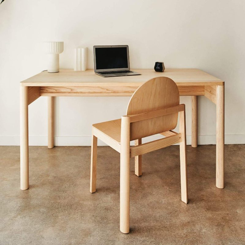 dims eave desk natural eco-friendly fsc certified sustainable wood