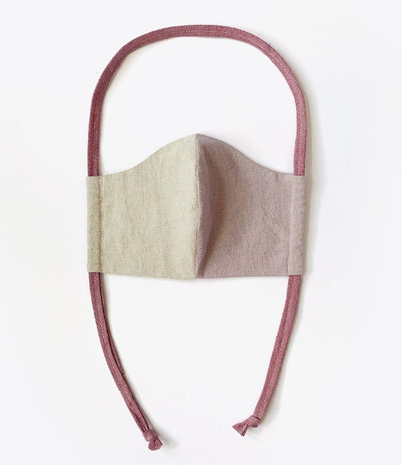 nisolo emlee upcycled linen and cotton mask