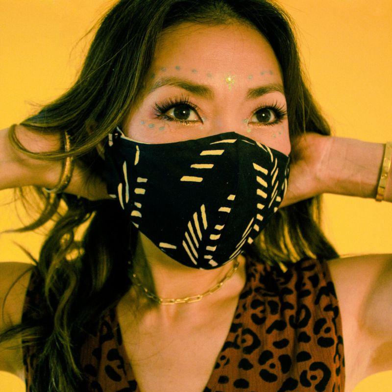 symbology face mask reclaimed scrap materials