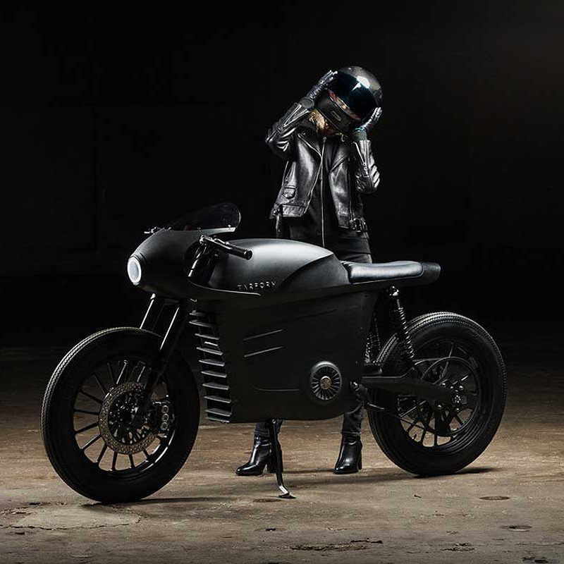 tarform electric motorcyle cafe racer sustainable mobility