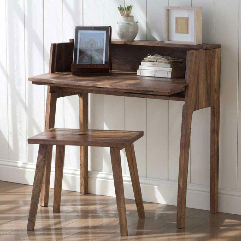 vivaterra foldable sustainable console desk fsc wood