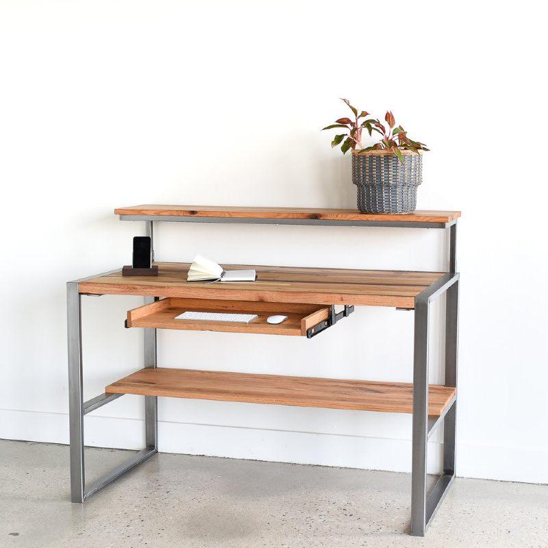 what we make reclaimed wood desk desktop computer